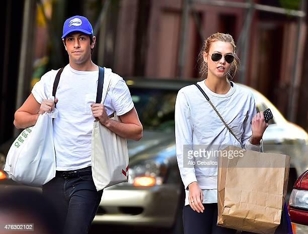 Karlie KlossJoshua Kushner are seen in Soho on June 7 2015 in New York City
