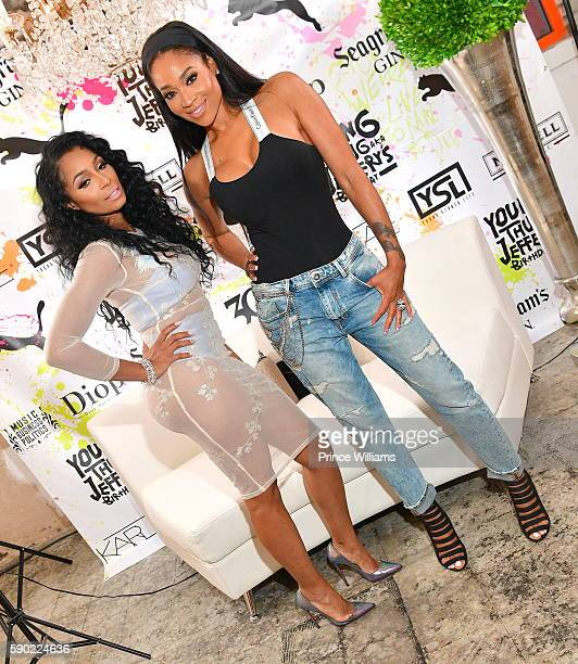 Karlie Redd and Mimi Faust attend young Thugs 25th Birthday and PUMA Campaign on August 15 2016 in Atlanta Georgia