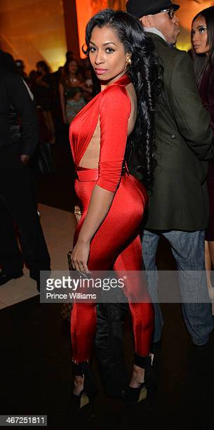 Karlie Redd attends Ciroc party at Vanquish Lounge on February 5 2014 in Atlanta Georgia