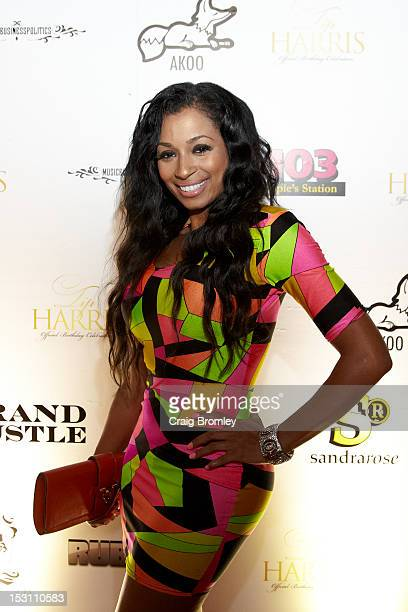Karlie Redd attends GREY GOOSE Cherry Noir Hosts Official Birthday Celebration for TI in Atlanta on September 29 2012 in Atlanta Georgia