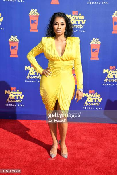 Karlie Redd attends the 2019 MTV Movie and TV Awards at Barker Hangar on June 15 2019 in Santa Monica California