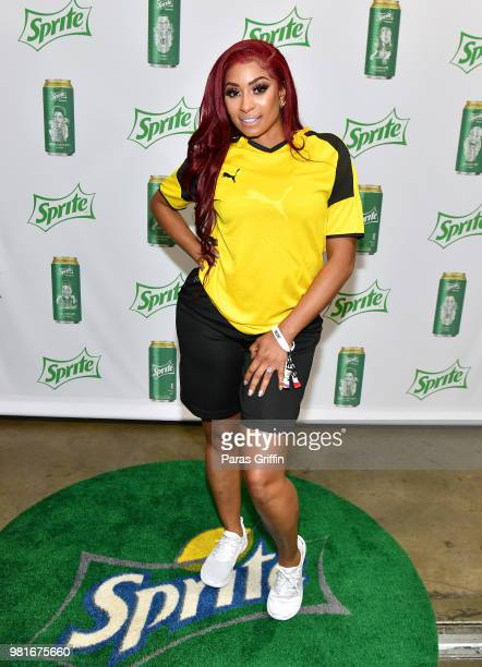 Karlie Redd attends the Celebrity Dodgeball Game at 2018 BET Experience Fan Fest at Los Angeles Convention Center on June 22 2018 in Los Angeles...