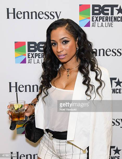 Karlie Redd attends the official BET Experience gifting suite sponsored by Hennessy at Los Angeles Convention Center on June 27 2015 in Los Angeles...
