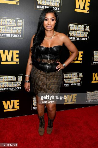 """Karlie Redd attends the premiere of """"Waka & Tammy: What The Flocka"""" at Republic on March 10, 2020 in Atlanta, Georgia."""