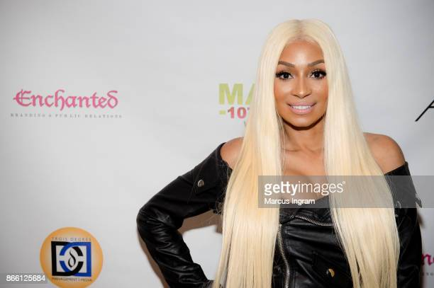 Karlie Redd attends the RB group 112 private listening party at Crossover Entertainment Group on October 24 2017 in Atlanta Georgia