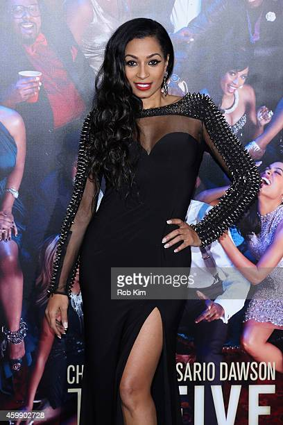 Karlie Redd attends the Top Five New York Premiere at Ziegfeld Theater on December 3 2014 in New York City
