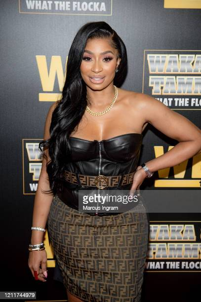 Karlie Redd attends the WE tv Waka Tammy What The Flocka premiere event at Republic Lounge on March 10 2020 in Atlanta Georgia