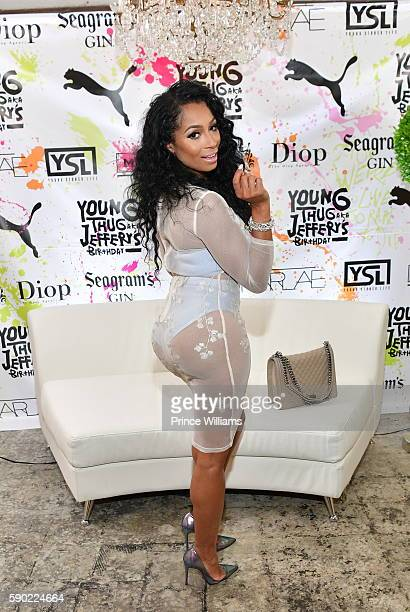 Karlie redd attends Young Thugs 25th Birthday and PUMA Campaign on August 15 2016 in Atlanta Georgia