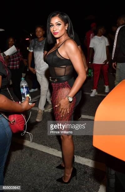 Karlie Redd attends Young Thug's birthday party at Tago International on August 16 2017 in Atlanta Georgia