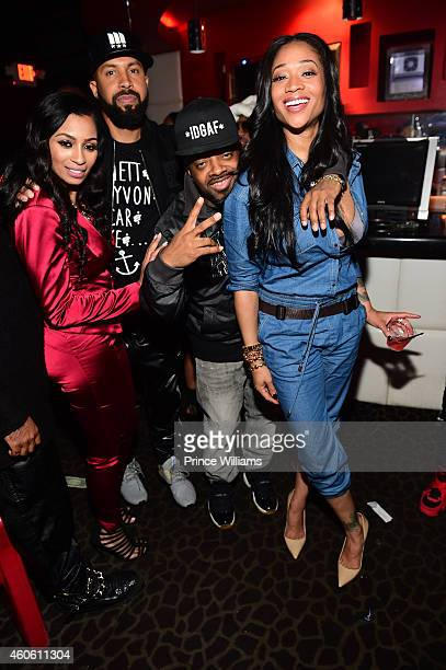 Karlie Redd Kenny Burns Jermain Dupri and Mimi Faust attends Diamonds of Atlanta on December 9 2014 in Atlanta Georgia