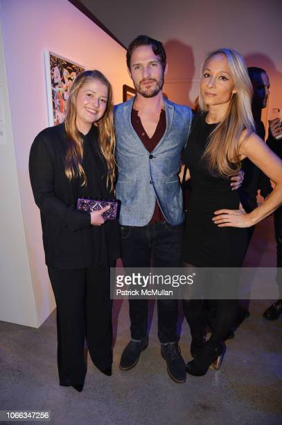 Karline Moeller Kurt McVey and Indira Cesarine attend 24th Annual ARTWALK NY at Spring Studios on November 28 2018 in New York City