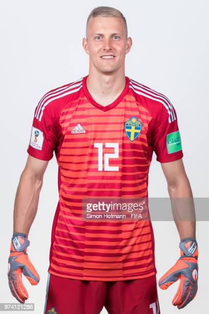 KarlJohan Johnsson of Sweden poses during the official FIFA World Cup 2018 portrait session on June 13 2018 in Gelendzhik Russia