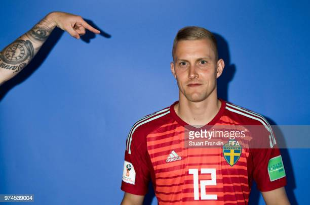 Karl-Johan Johnsson of Sweden poses for a photograph during the official FIFA World Cup 2018 portrait session at on June 13, 2018 in Gelendzhik,...