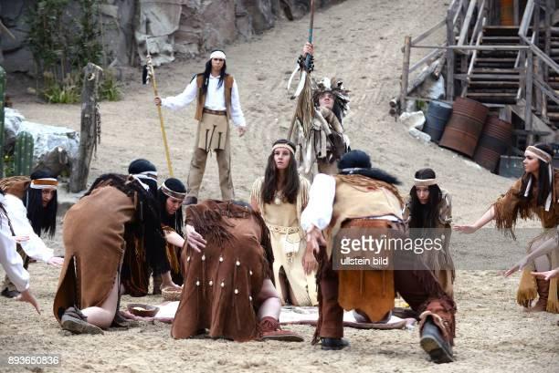 KarlMaySpiele Bad Segeberg zeigen erste Szenen aus 'Im Tal des Todes' Barbara Wussow als temperamentvolle Senorita Miranda und Ralf Bauer als...
