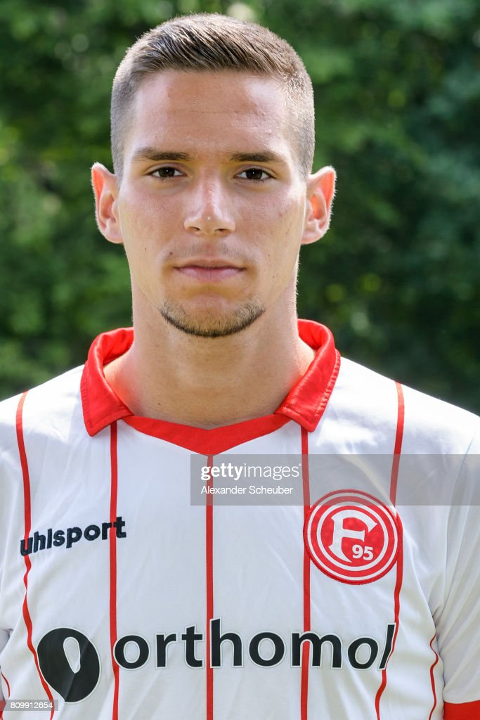 Karlo Majic of Fortuna Duesseldorf poses during the team presentation at on July 6, 2017 in Duesseldorf, Germany.