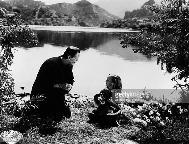 Karloff Boris Actor Great Britain Scene from the movie 'Frankenstein' Directed by James Whale USA 1931 Film Production Universal Pictures Vintage...