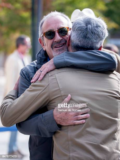 Karlos Arguinano arrives to the Funeral Tribute For Angel Nieto in Madrid on September 16 2017 in Madrid Spain