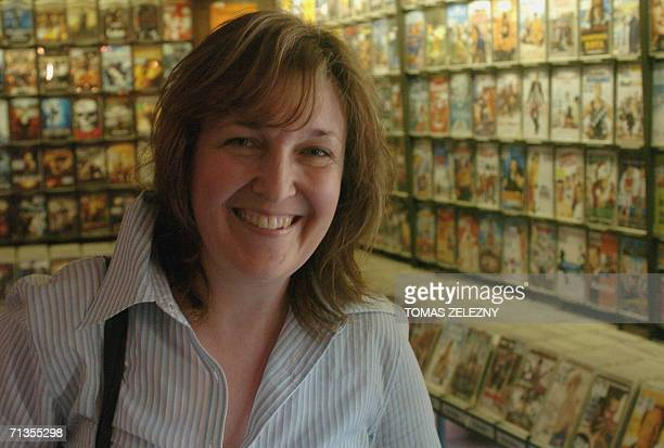 Anna Bucchetti Italienborn Dutch director smiles 02 July 2006 during a photo call at the 41st Karlovy Vary International Film Festival before...