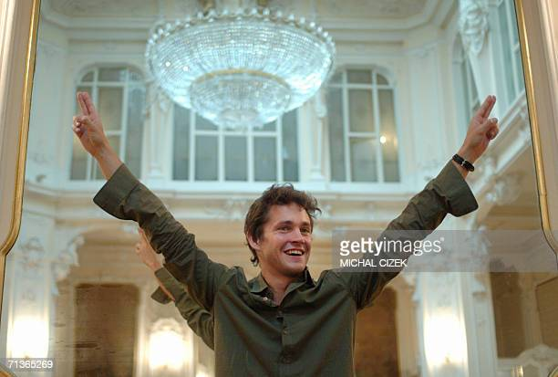 British actor Hugh Dancy starring in Michael CatonJones Shooting Dogs poses 04 July 2006 in Karlovy Vary during the 41st Karlovy Vary International...