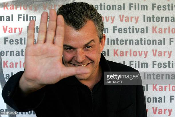 Karlovy Vary, CZECH REPUBLIC: Danny Huston US filmmaker and actor, and son of legendary US director John Huston, poses 03 July 2006 in Karlovy Vary ,...