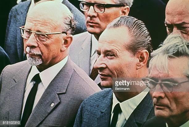 Karlovy Vary Czechoslovakia Czech reform leader Alexander Dubcak welcomes East Germany's hardline Communist boss Walter Ulbricht to this famed Czech...