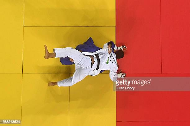 KarlRichard Frey of Germany competes with Ramadan Darwish of Egypt during the men's 100kg repechage judo contest on Day 6 of the 2016 Rio Olympics at...