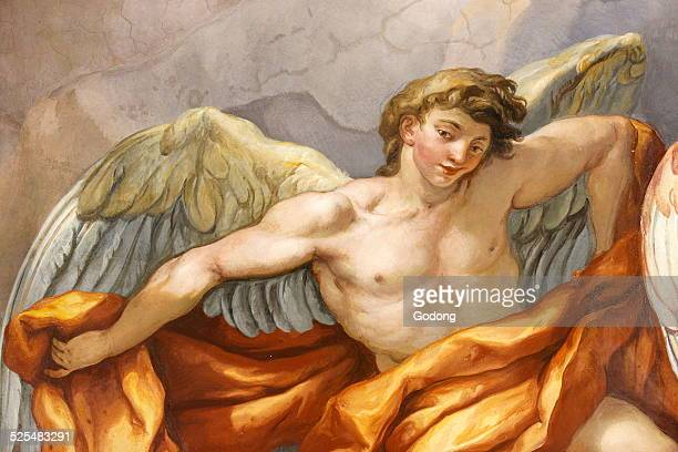 Karlskirche Dome fresco by Johann Michael Rottmayr Angel