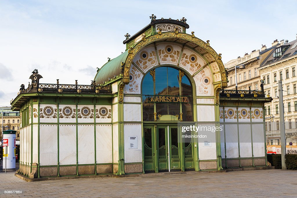 Karlsplatz Subway Station Entrance : Stock Photo