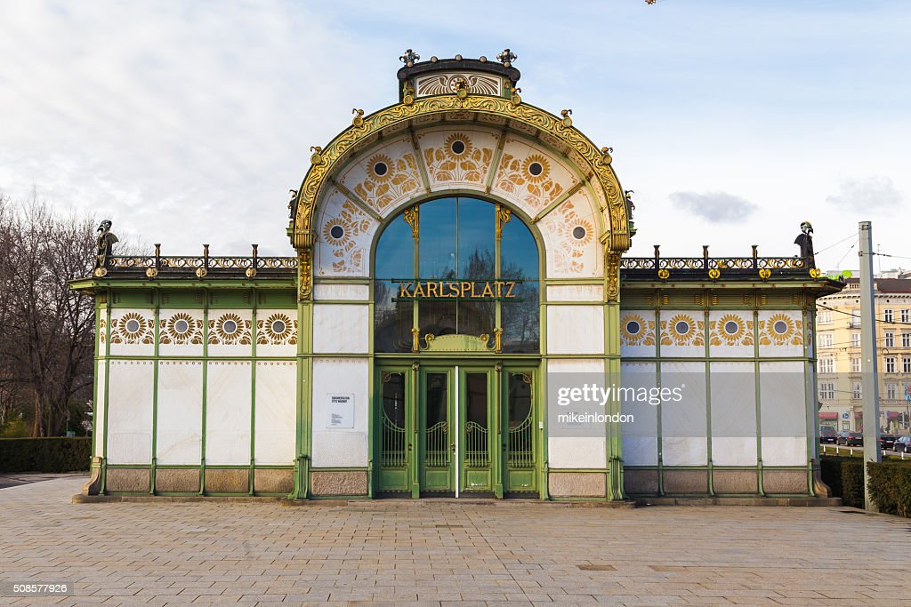 Karlsplatz Subway Station Entrance : Bildbanksbilder