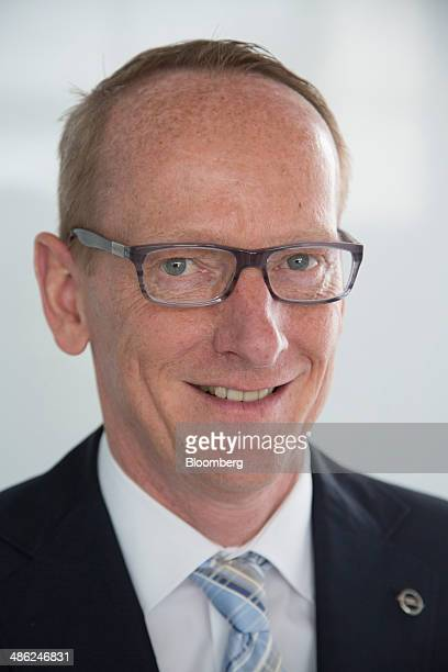 KarlThomas Neumann chief executive officer of Adam Opel AG poses for a photograph at the Opel factory operated by General Motors Co in Eisenach...