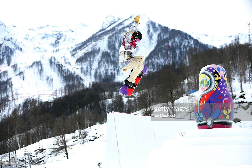 Karly Shorr of USA competes during the Snowboard Women's Slopestyle Final during day 2 of the Sochi 2014 Winter Olympics at Rosa Khutor Extreme Park on February 9, 2014 in Sochi, Russia.