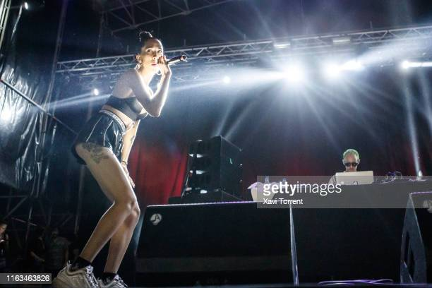 Karma Cereza of Mueveloreina performs in concert during the Festival Internacional de Benicassim on July 21, 2019 in Benicassim, Spain.