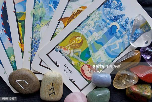 Karma Tarot Card , Runes & Crystals