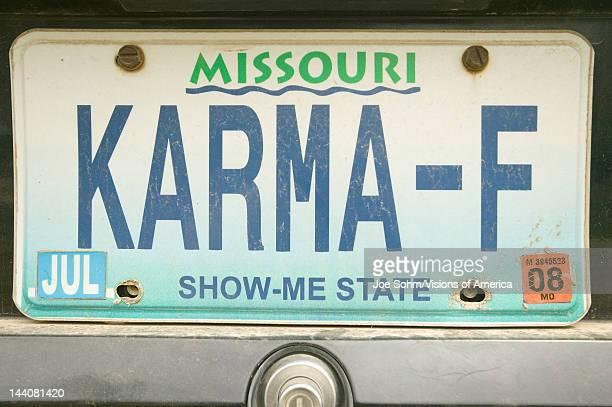 'Karma' vanity license plate in Bourbon Missouri