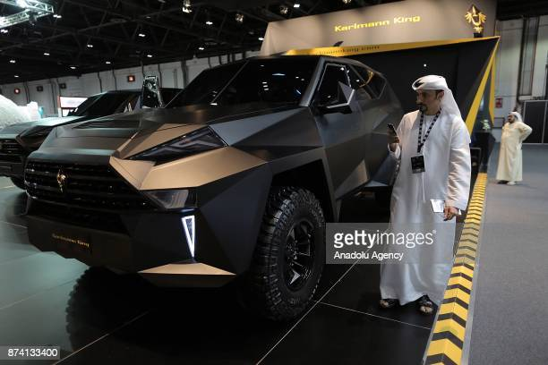 Karmann King is displayed during Dubai International Motor Show 2017 at Dubai World Trade Centre in Dubai United Arab Emirates on November 14 2017