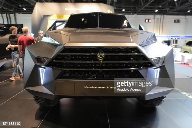 Karmann King is displayed during Dubai International Motor Show 2017 at Dubai World Trade Centre in Dubai United Arab Emirates on November 14 2017