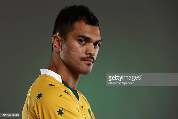 Karmichael Hunt of the Wallabies poses during an Australian Wallabies portrait session on May 30 2016 in Sunshine Coast Australia