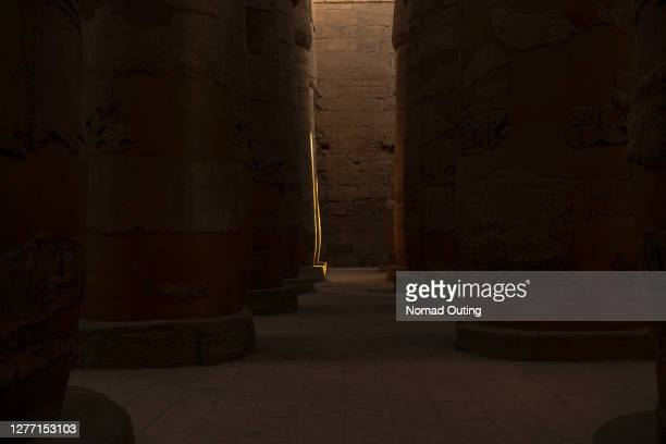 karnak temple complex of ancient egypt - tomb stock pictures, royalty-free photos & images