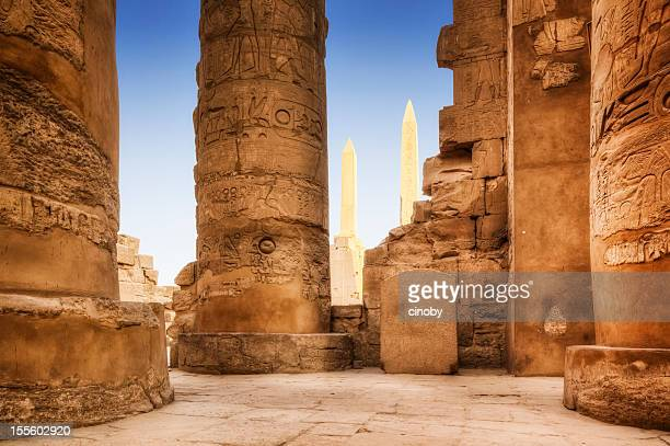 karnak temple complex - egyptian culture stock pictures, royalty-free photos & images