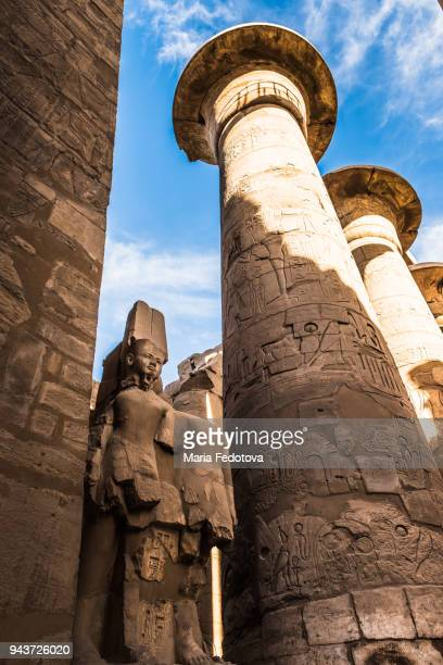 karnak temple, luxor, egypt - temples of karnak stock pictures, royalty-free photos & images