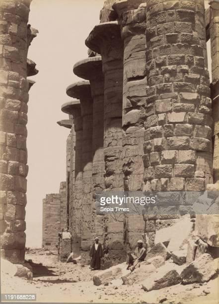 Karnak, The Great Columns by the Middle / Karnak, Les Grand Colonnes du Milieu, Antonio Beato , 1880-1889, Albumen silver print, 36 _ 25.9 cm