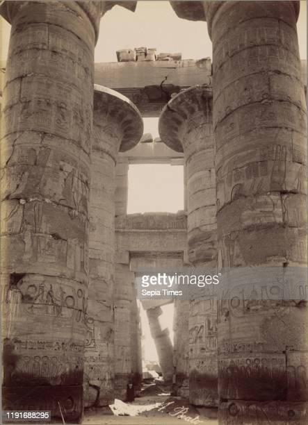Karnak, The Hypostyle Hall / Karnak, La Salle Hypostyle, Antonio Beato , 1880-1889, Albumen silver print, 36 _ 25.9 cm