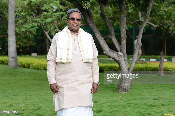 Karnataka Chief Minister K Siddaramaiah poses for a profile shoot on September 18 2015 in Bengaluru India