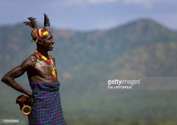 Karo Tribe in Korcho village in Ethiopia on October 29, 2008 - The Karo , with a population of about 1000 - 1500 live on the east banks of the Omo...