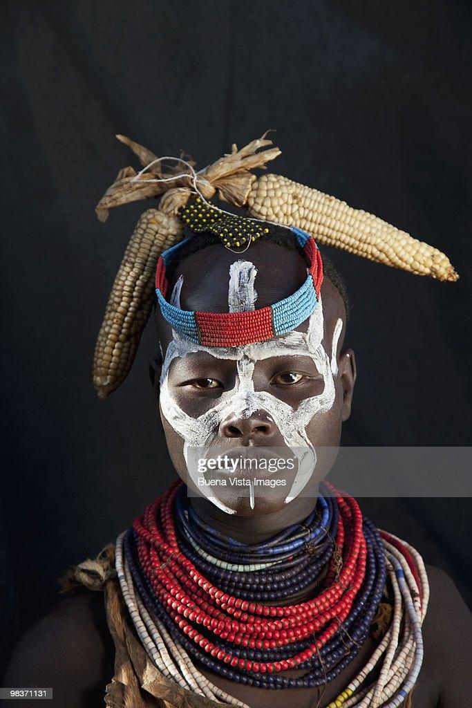 Karo tribe woman : Stock Photo