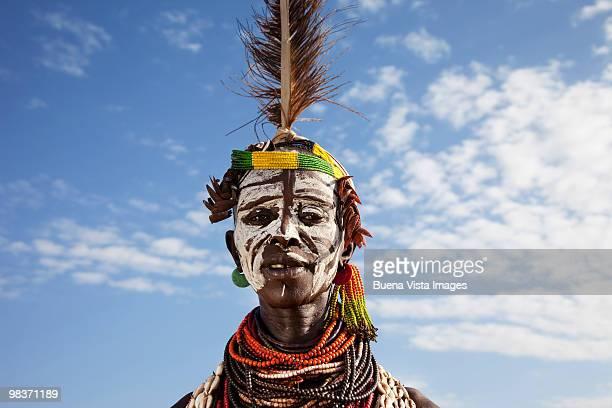 karo tribe woman - ethiopia stock pictures, royalty-free photos & images