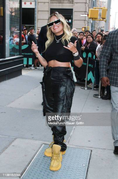 Karol G is seen on April 19 2019 in New York City