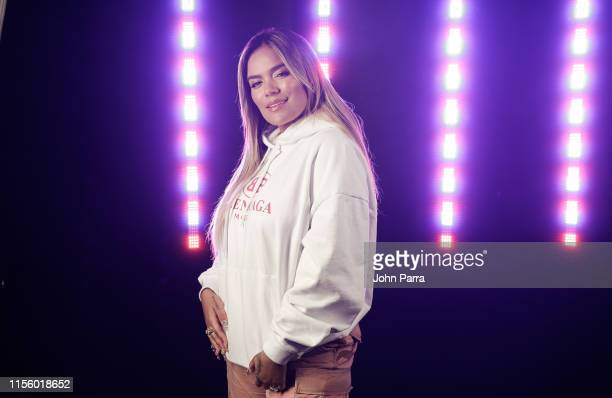 Karol G performs a private concert for her fans at SW Sound Stage at iHeart Latino Studio on July 16 2019 in Miami Florida