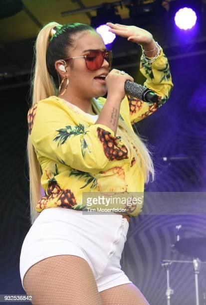 Karol G performs during the Pandora showcase on March 15 2018 in Austin Texas