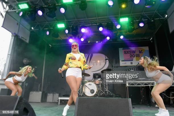 Karol G performs onstage during Pandora SXSW 2018 on March 15 2018 in Austin Texas